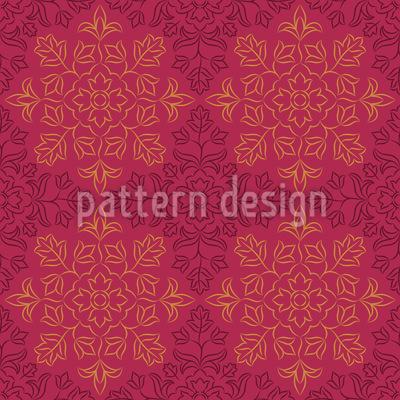 Stil Der Indischen Stickerei Rapportiertes Design