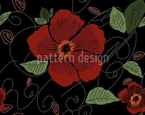 Night Blossoms Vector Pattern