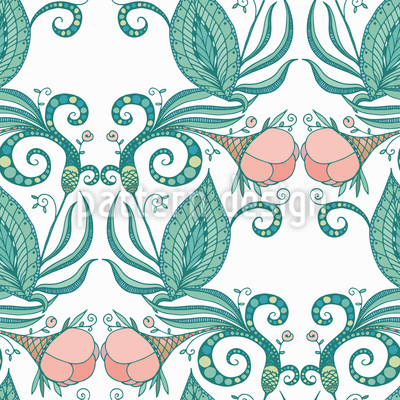Victorian Flowers Repeating Pattern