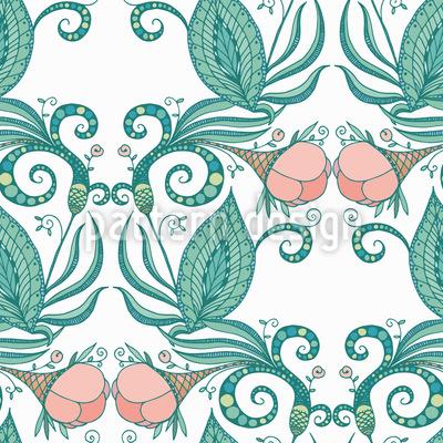Viktorianische Blumen Rapportiertes Design