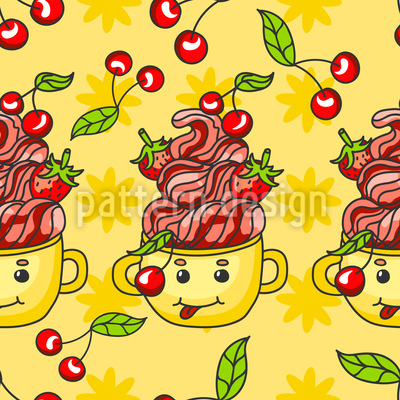 Süßes Süßigkeit Dessert Rapportmuster
