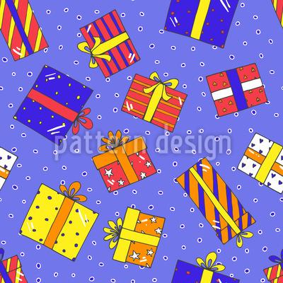 Meine Geschenke Für Dich Nahtloses Vektor Muster