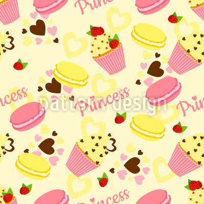 Candy Princess Repeating Pattern