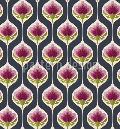 Umschlossene Blumen Nahtloses Muster