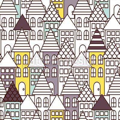 みんなの町 シームレスなベクトルパターン設計