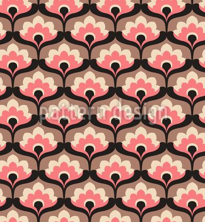 Ein Blumensegen Nahtloses Vektor Muster
