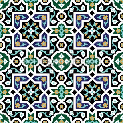Geometrische Arabesken Rapportiertes Design
