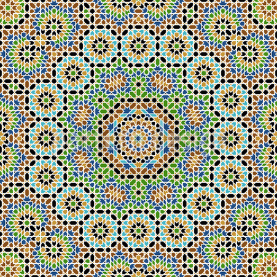 Complexe marocain Motif Vectoriel Sans Couture