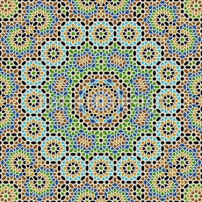 Moroccan Complex Seamless Vector Pattern Design