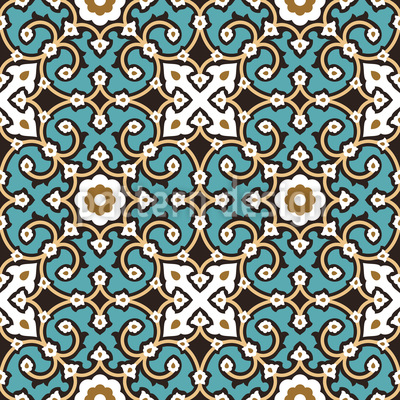 Classy arabesque pattern design for Arabesque style decoration