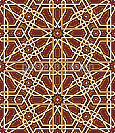 Medieval Inlays Seamless Vector Pattern Design