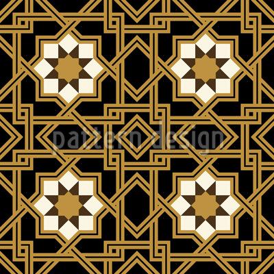 Interlocking Star Seamless Pattern