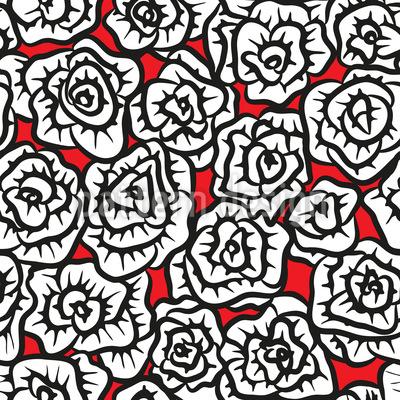 Von Rosen Bedeckt Rapportmuster