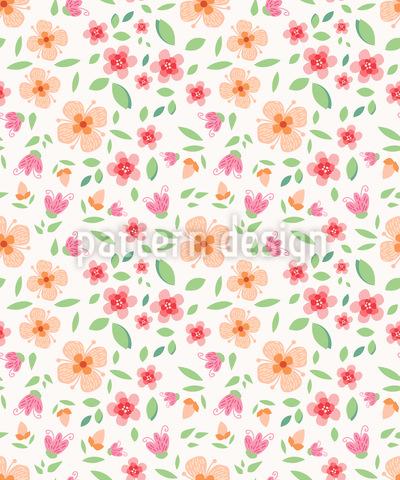 Fragrância Flor Design de padrão vetorial sem costura
