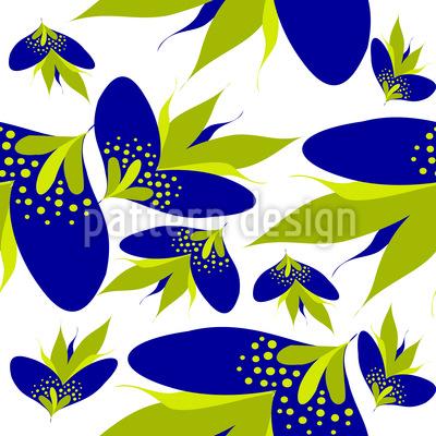Grafische Fantasie Blüten Designmuster