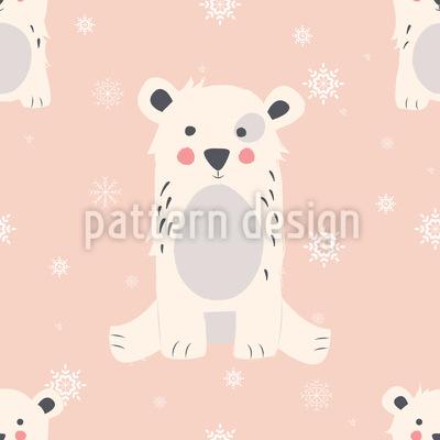 Oso Polar Estampado Vectorial Sin Costura