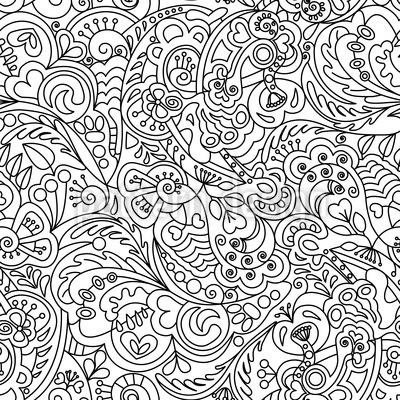 Linhas harmoniosas Design de padrão vetorial sem costura