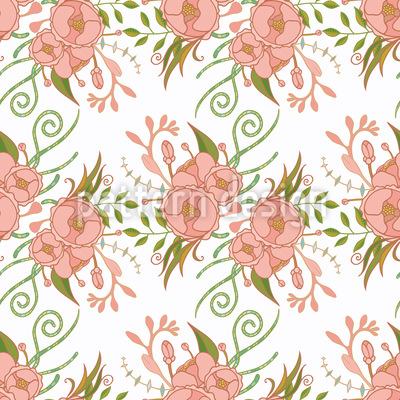 Verzierte Rosen Nahtloses Muster