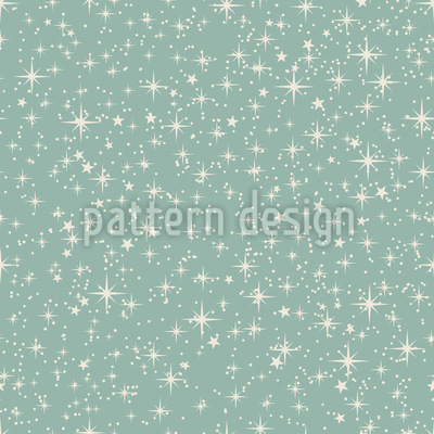 Winter Star Heaven Seamless Vector Pattern Design