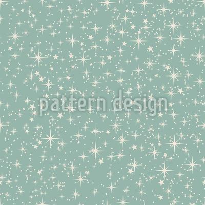 Winterlicher Sternenhimmel Nahtloses Vektormuster