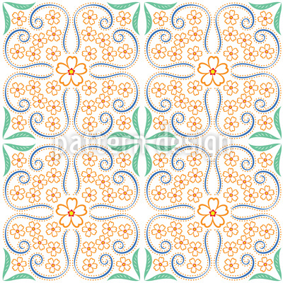 Blumenader Musterdesign