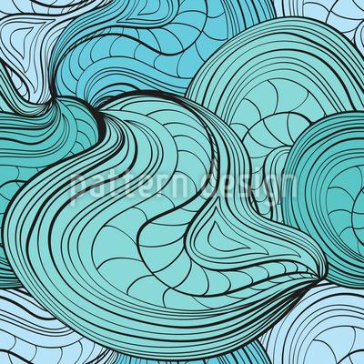 Ondas em movimento Design de padrão vetorial sem costura