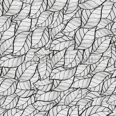 Leaves Dress Seamless Vector Pattern Design