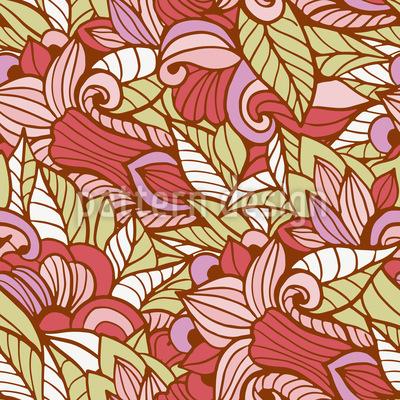 Blumenlaub Vektor Muster