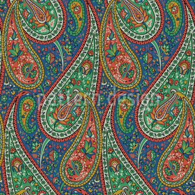 Filigranes Paisley Rapportiertes Design