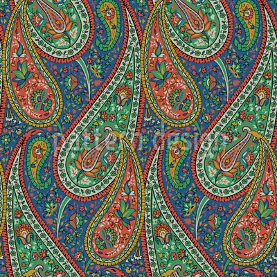 Filigree Paisley Repeating Pattern