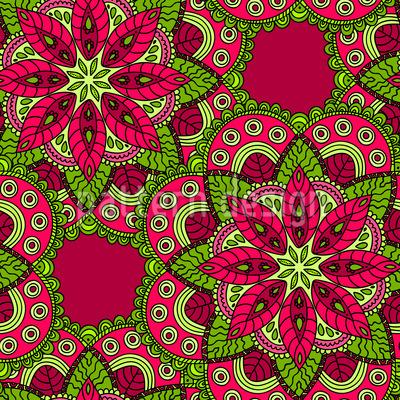 Herzerfrischendes Mandala Musterdesign