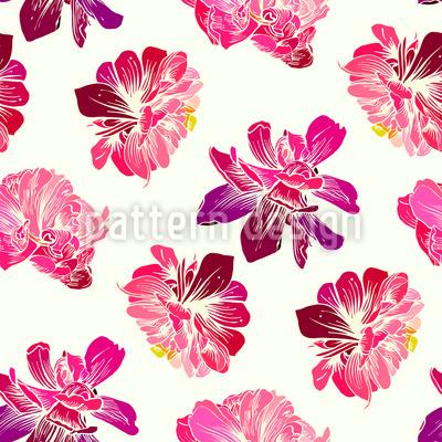 Vale das Flores Design de padrão vetorial sem costura