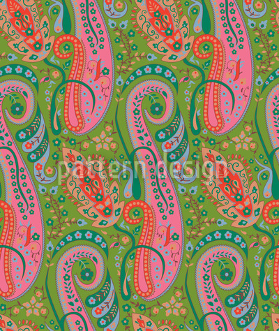 Exotic Garden Seamless Vector Pattern Design