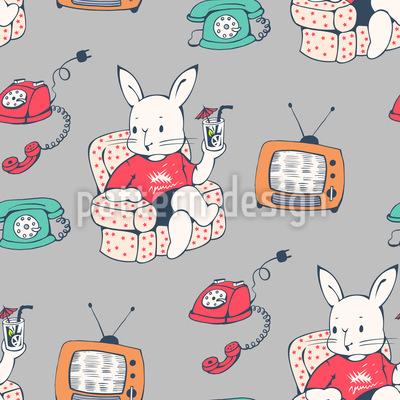 Hasen zu Hause Muster Design