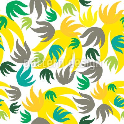 Grafische Blätter und florale Elemente Designmuster