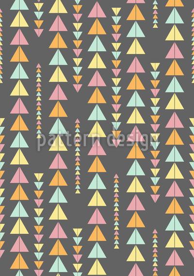 Dreieck-Linien Nahtloses Vektor Muster