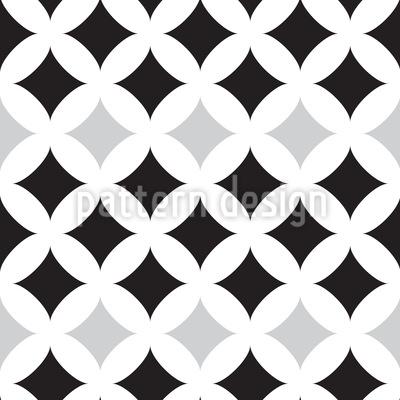 Dunkle Retro Fliesen  Muster Design