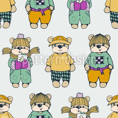 Lässiger Teddy Designmuster