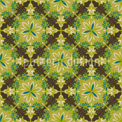 Hexagon Mandala Nahtloses Vektor Muster
