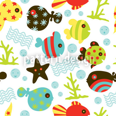 Waterworld In Winter Seamless Pattern