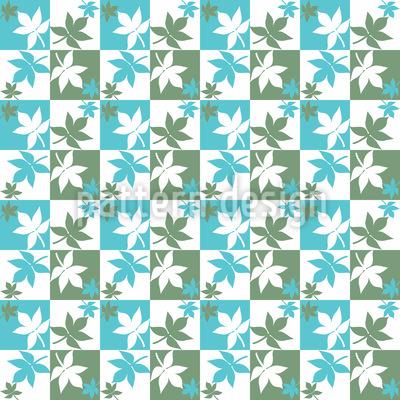 Schachbrett Blätter Rapportiertes Design