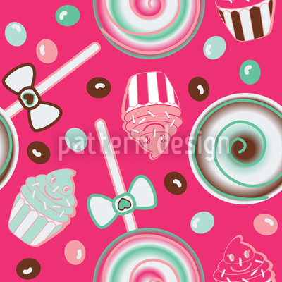 Cookidoo Pink Seamless Vector Pattern Design