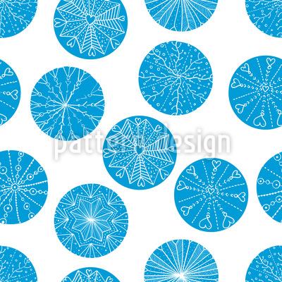 Lustige Schneeflocken Kreise Muster Design