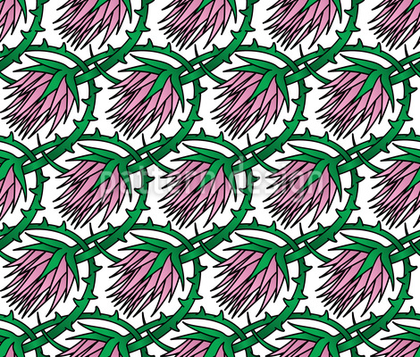 Blüten Klette Nahtloses Muster