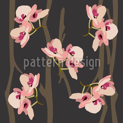 Wilde Orchideen Muster Design
