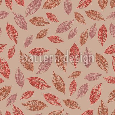Handgezeichnetes Herbstlaub Nahtloses Vektor Muster