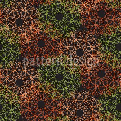 Umriss-Mandala Muster Design