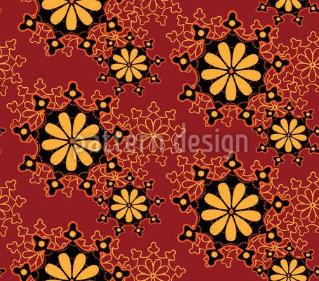 Antikes Deckchen Nahtloses Vektor Muster