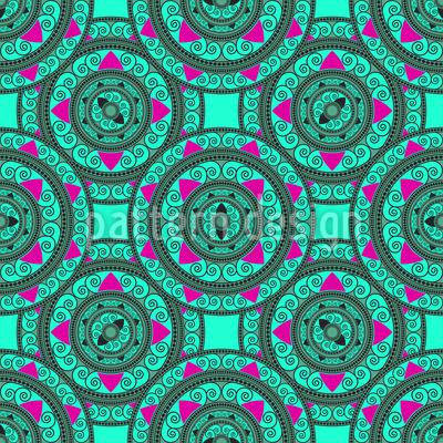 Orientalische Mandala Kreise Muster Design