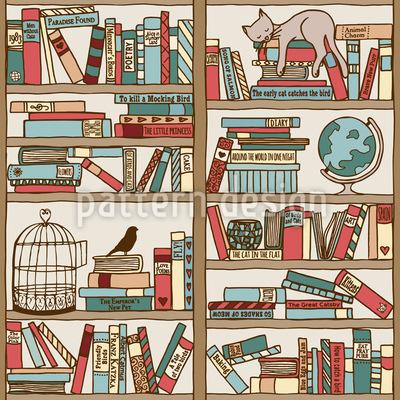Bücherregal Nahtloses Vektormuster